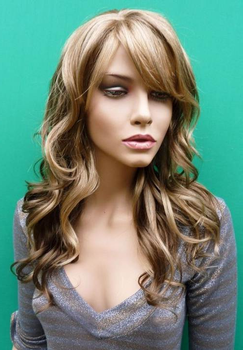 Blonde Highlights In Brown Hair Styles Throughout Most Recent Long Dark Brown Curls Hairstyles With Strawberry Blonde Accents (View 10 of 20)