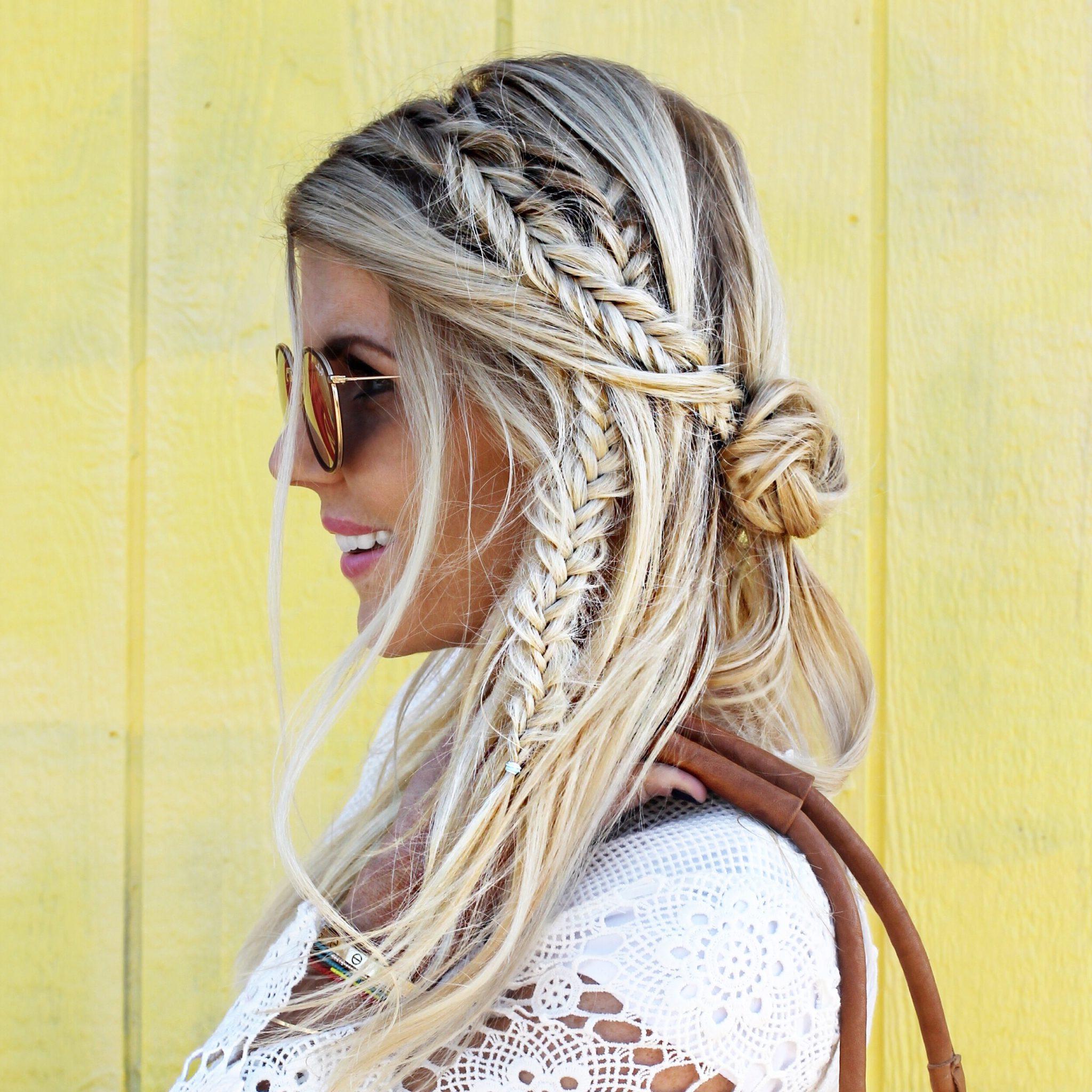 Bohemian Fishtail Braid Tutorial: A Video Plus The Regarding Trendy Boho Fishtail Braid Hairstyles (View 17 of 20)