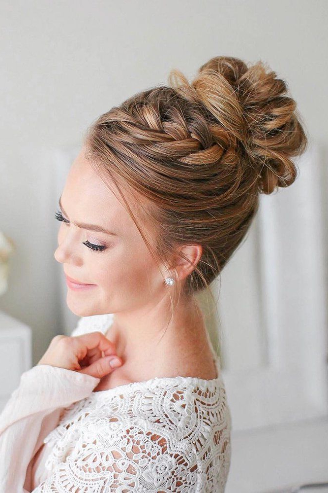 Featured Photo of Reverse Braided Buns Hairstyles