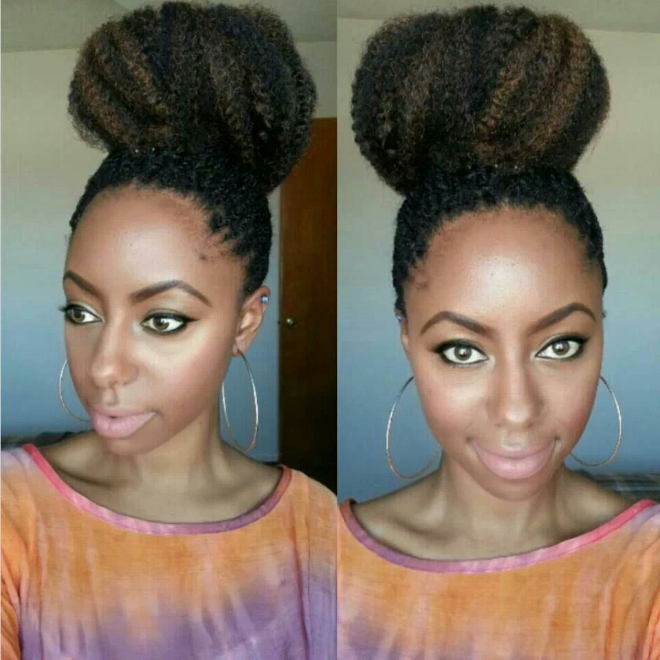 Braided Bun Hairstyles, Bun With Regard To Newest Marley Twists High Ponytail Hairstyles (View 6 of 20)