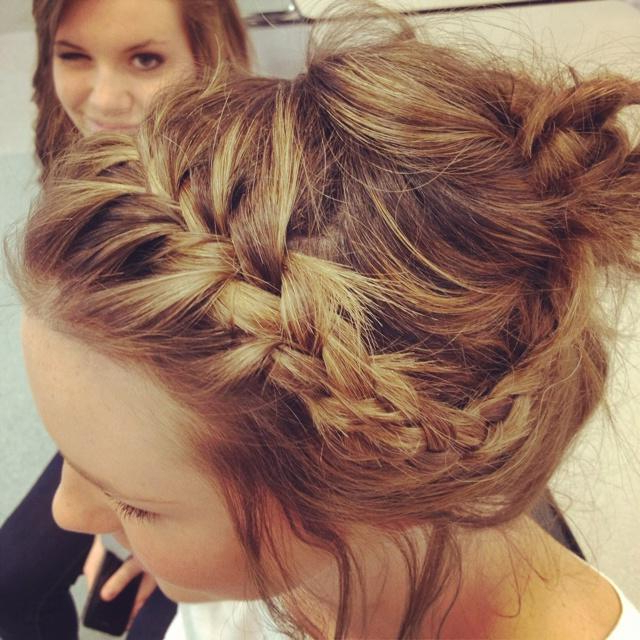 Braided Messy Updo (View 14 of 20)