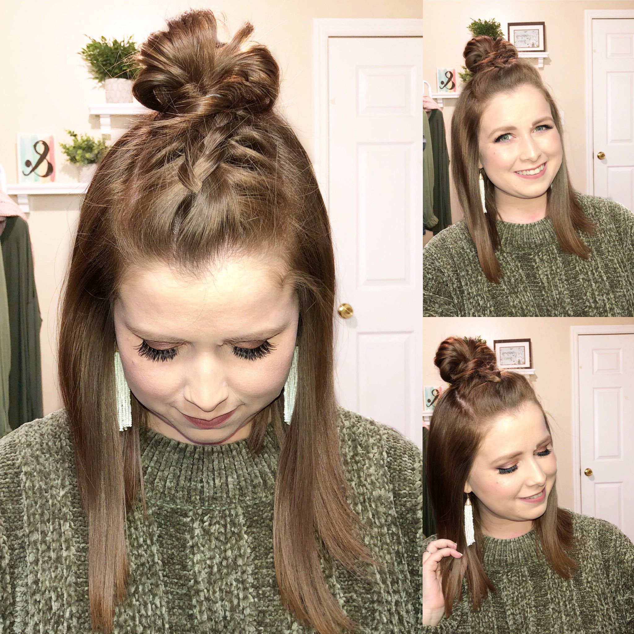 Braided Top Intended For Well Liked Braided Top Knot Hairstyles (View 11 of 20)