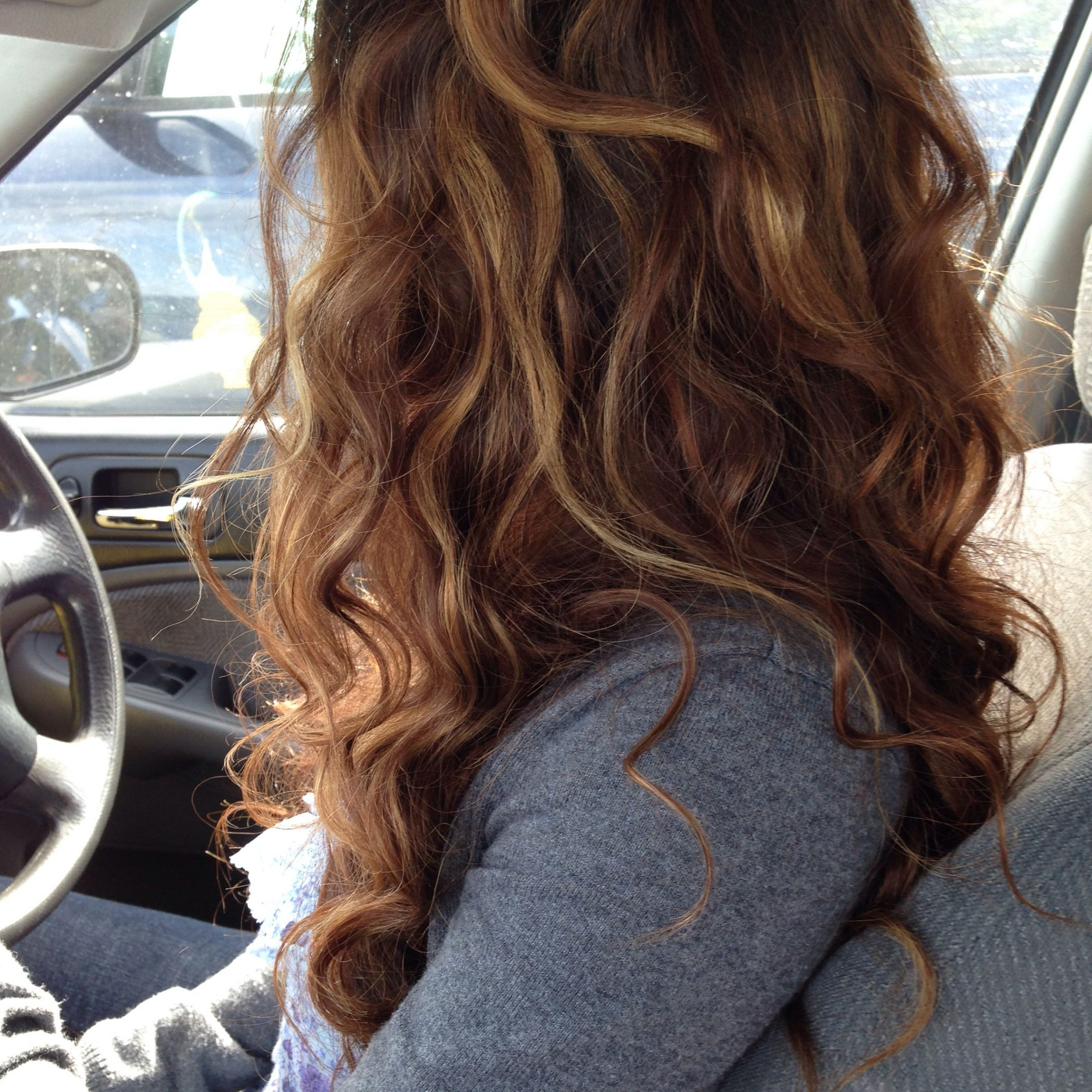 Featured Photo of Natural Curls Hairstyles With Caramel Highlights