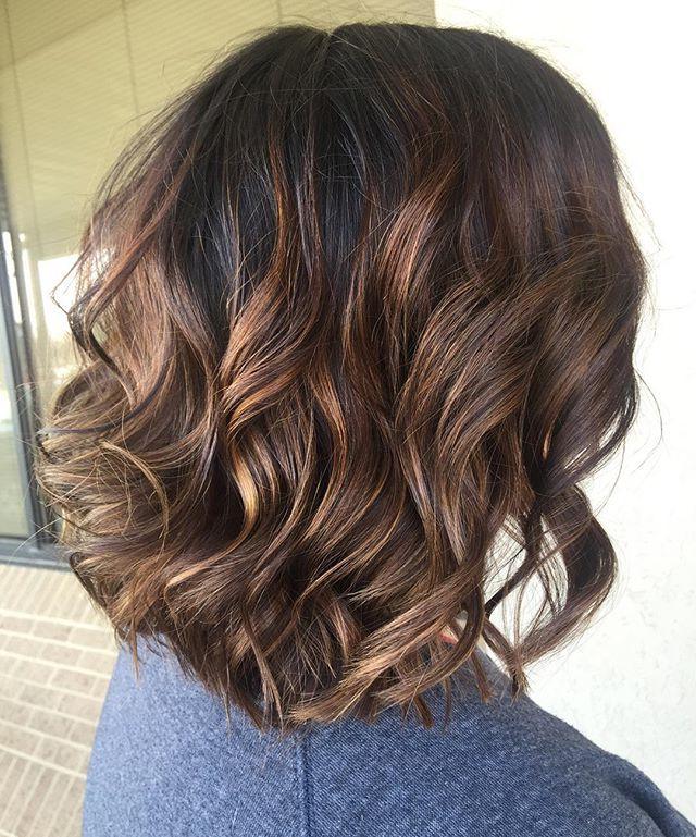 Caramel Babylights On Dark Brown Hair (View 10 of 20)