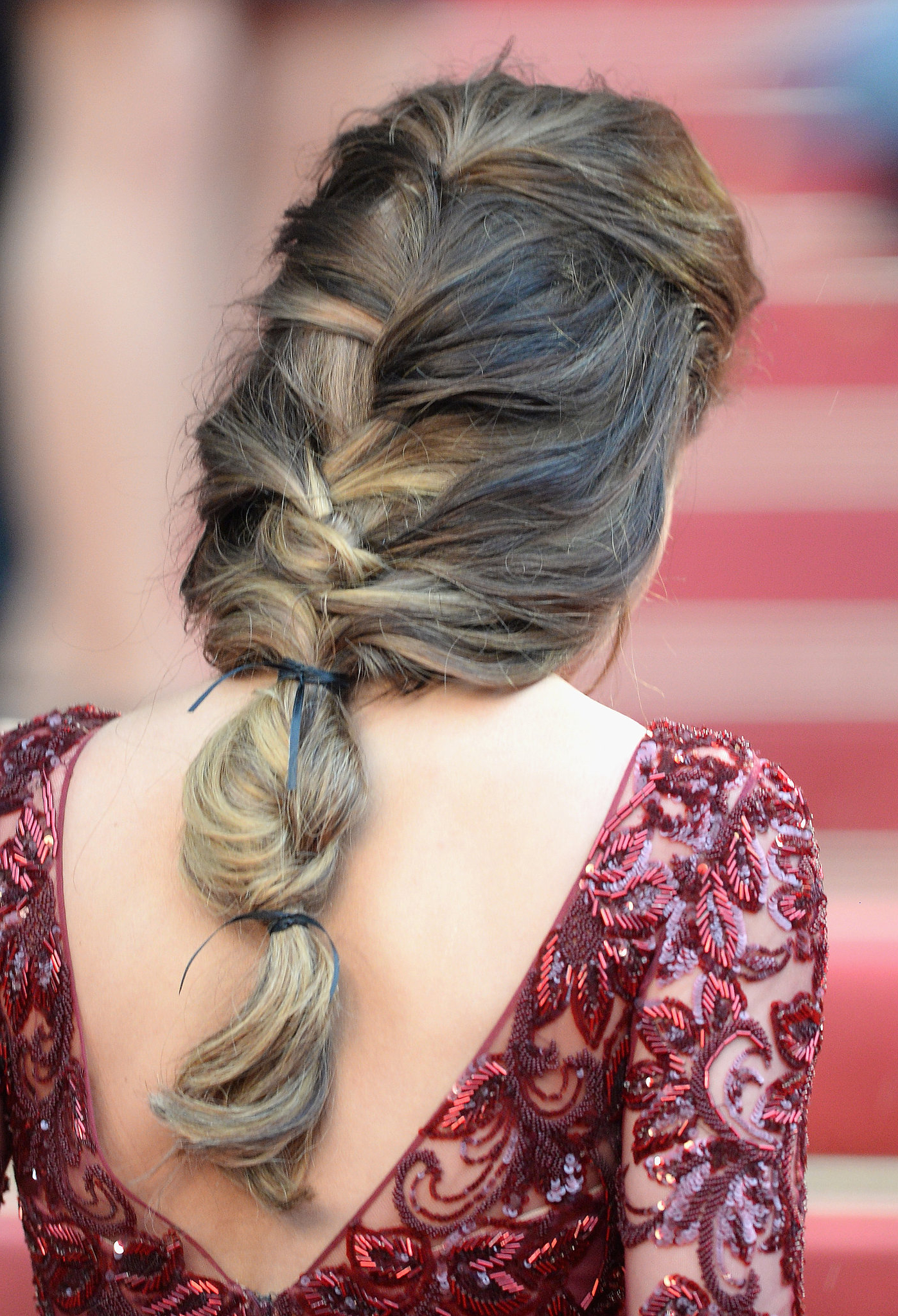 Cheryl Cole's Hair Was Styled In A Loose Braid That Within Most Up To Date Loose Historical Braid Hairstyles (View 7 of 20)