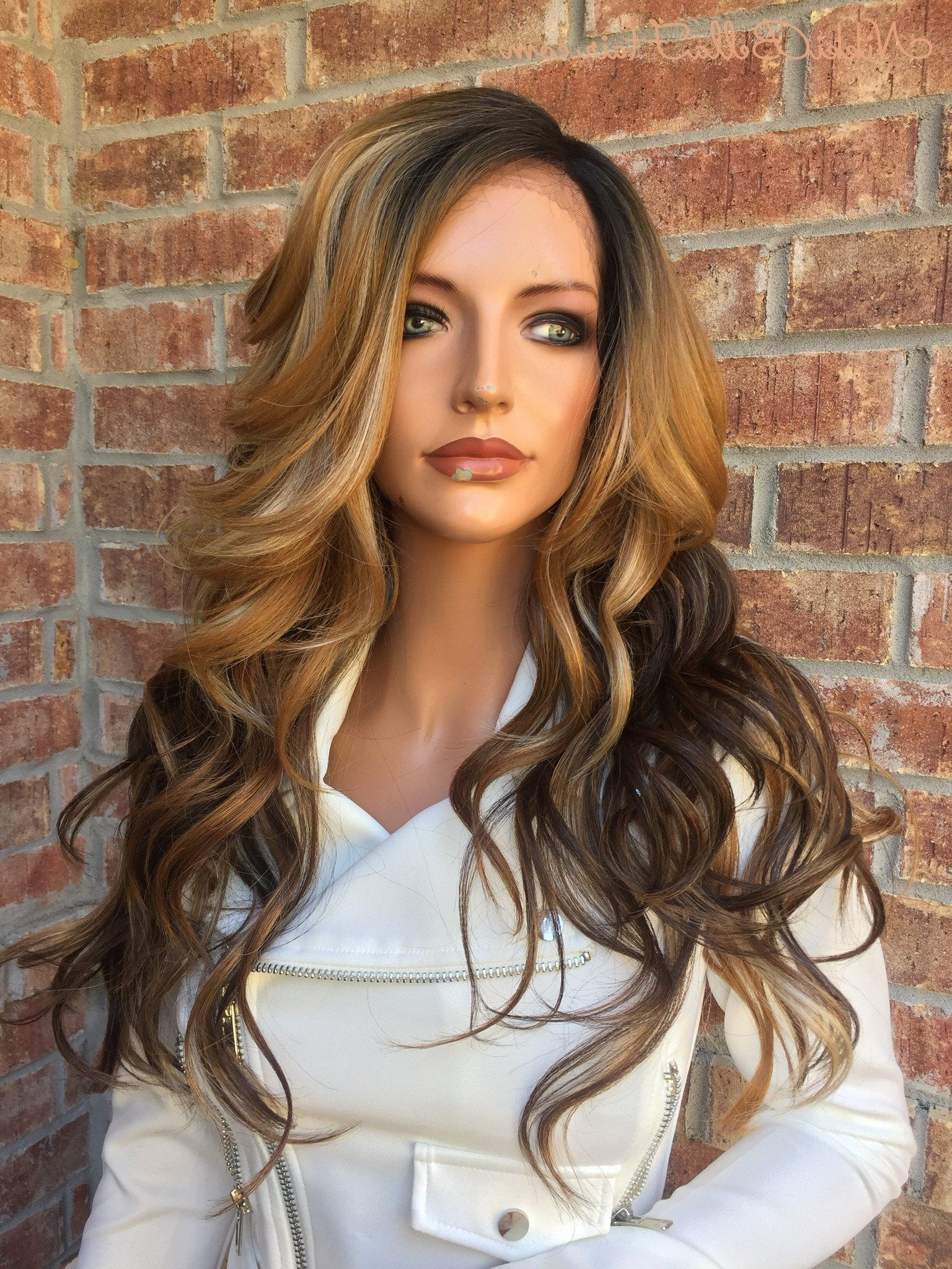 Chestnut Honey Blonde Balayage Human Hair Blend Multi In Most Up To Date Curls Hairstyles With Honey Blonde Balayage (View 9 of 20)