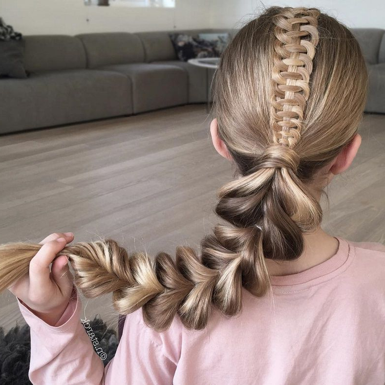 Coiffe, Tresse Intended For 2019 Messy Twisted Braid Hairstyles (View 9 of 20)