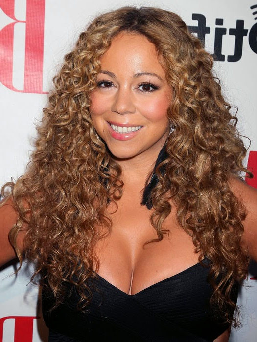 Curly Hair With Regard To Best And Newest Tight Chocolate Curls Hairstyles With Caramel Touches (View 18 of 20)