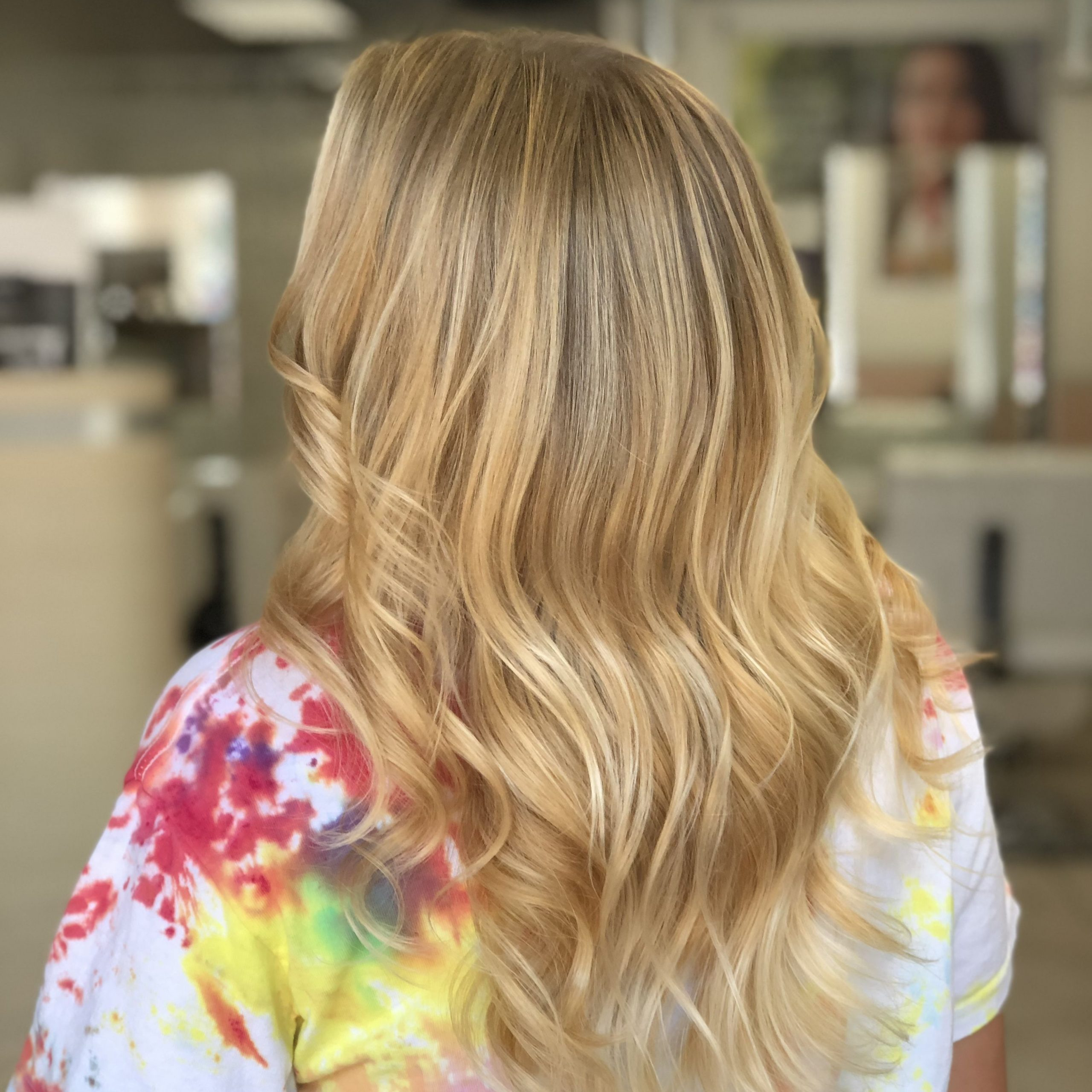 Current Golden Blonde Balayage On Long Curls Hairstyles With Regard To Beautiful Golden Blonde Balayage (View 18 of 20)