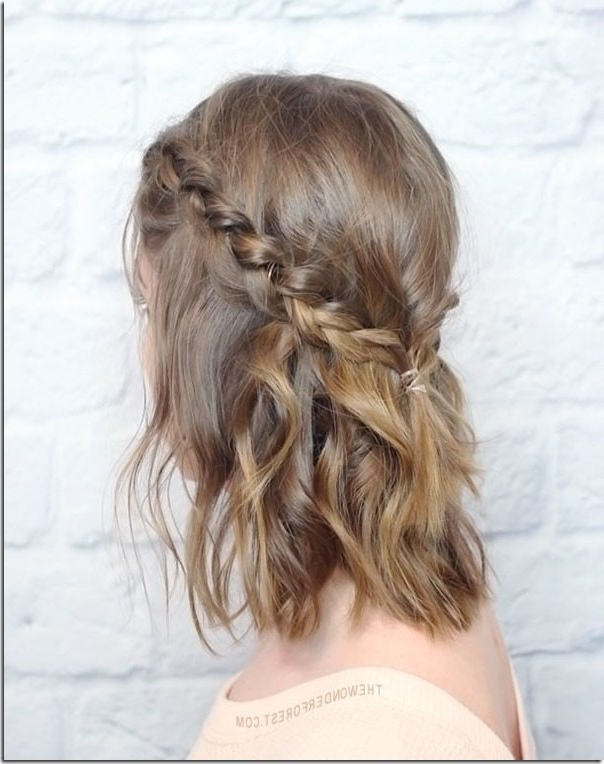 Current Light Pink Semi Crown Braid Hairstyles For 15 Prom Hairstyles For Medium Hair – Look Gorgeous For (View 18 of 20)