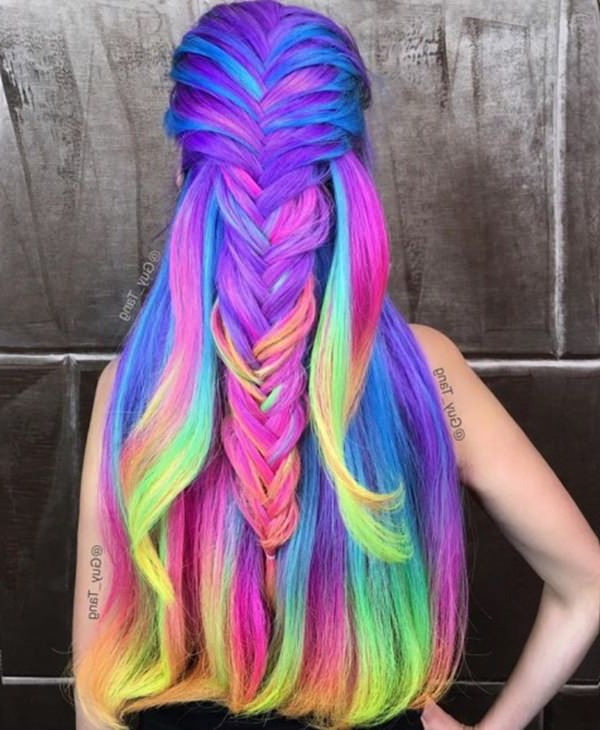 Current Pastel Rainbow Colored Curls Hairstyles In 73 Extraordinary Mermaid Hairstyles That Will Turn Heads (View 18 of 20)