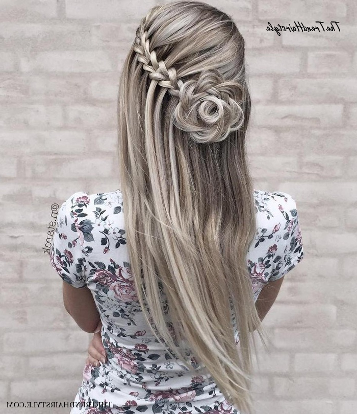 Current The Waterfall Braid Hairstyles Regarding Side Waterfall Braid – 40 Flowing Waterfall Braid Styles (View 17 of 20)