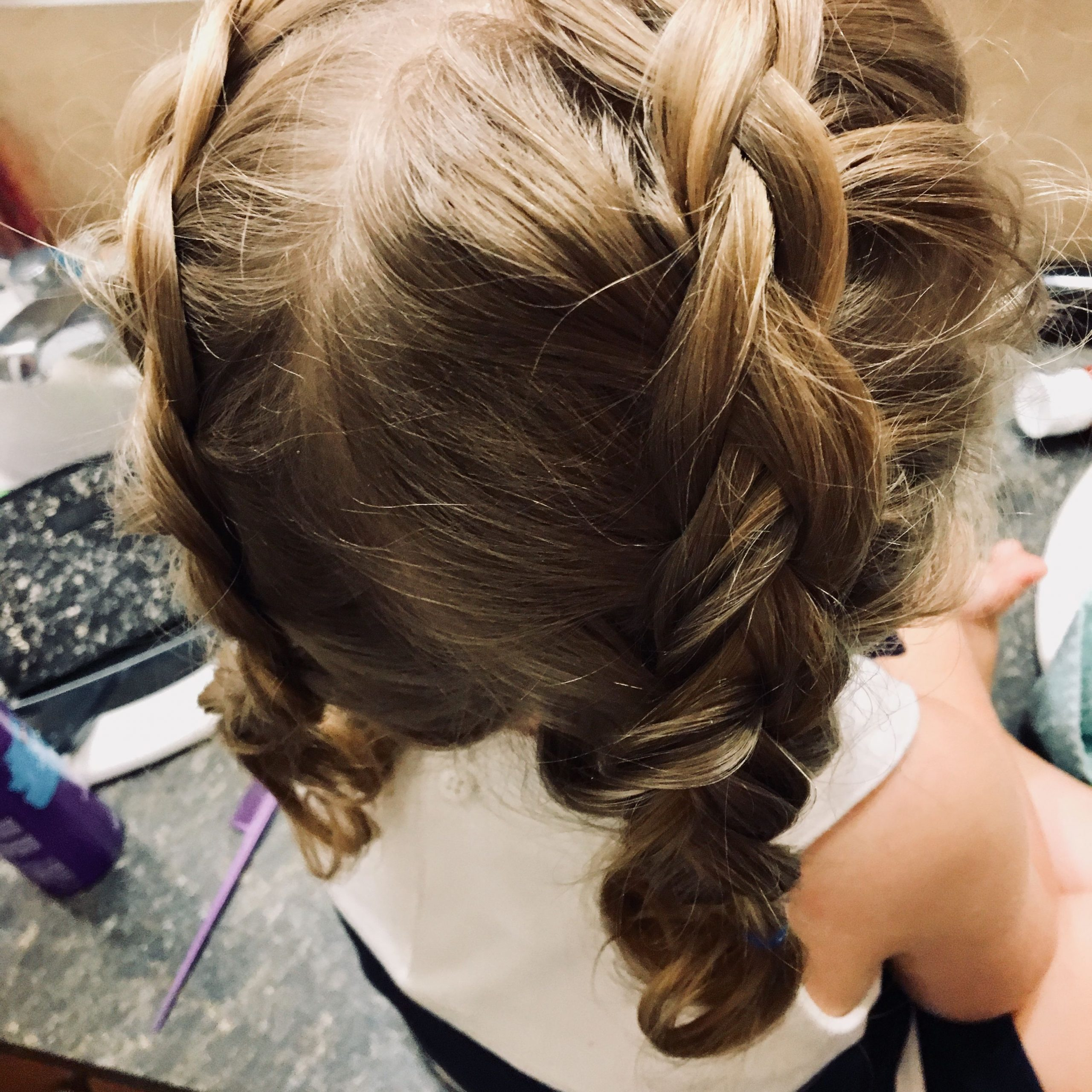 Double Dutch Braids On Curly Headed Toddler (View 5 of 20)