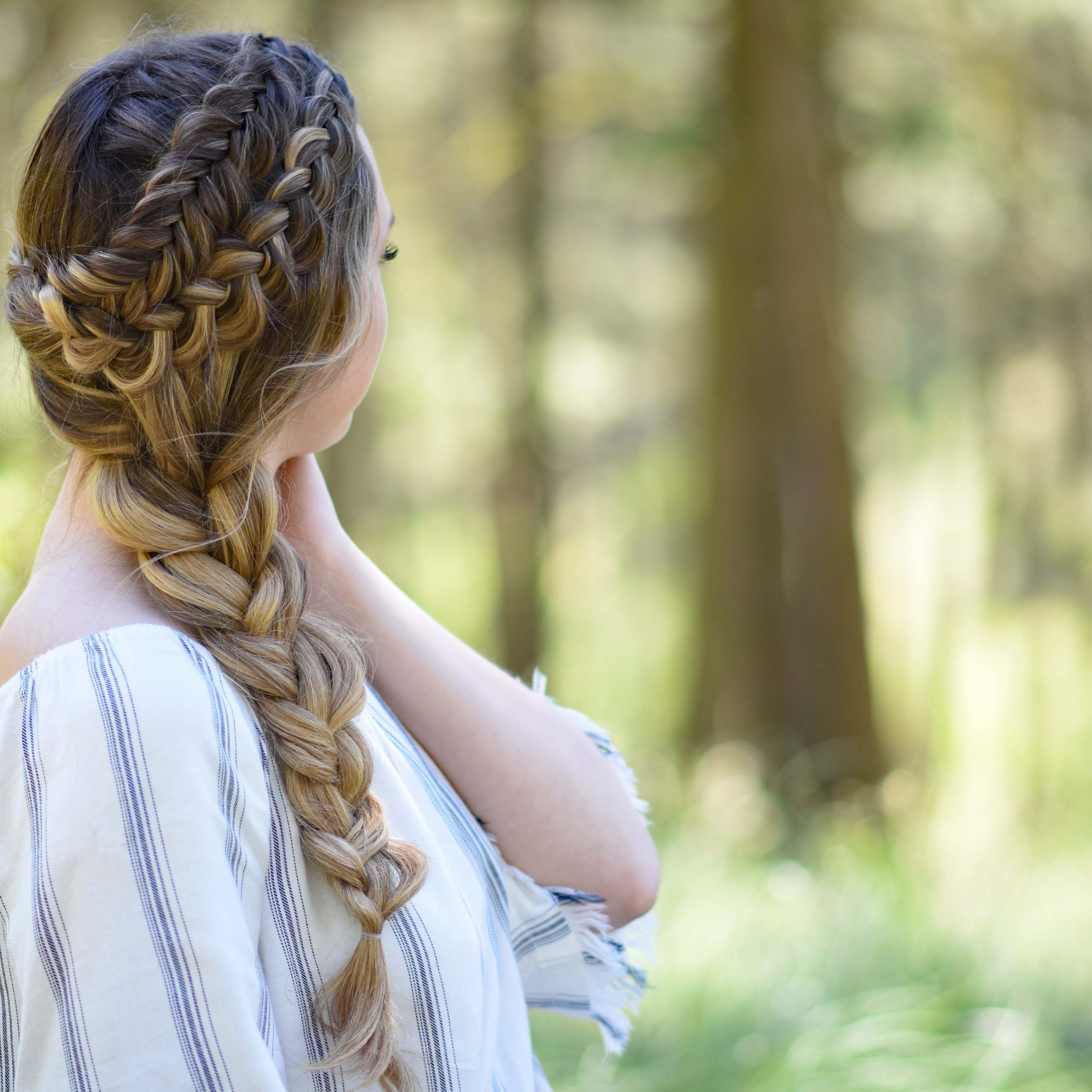 Double Dutch Side Braid – Cute Girls Hairstyles For 2019 Five Dutch Braid Ponytail Hairstyles (View 9 of 20)