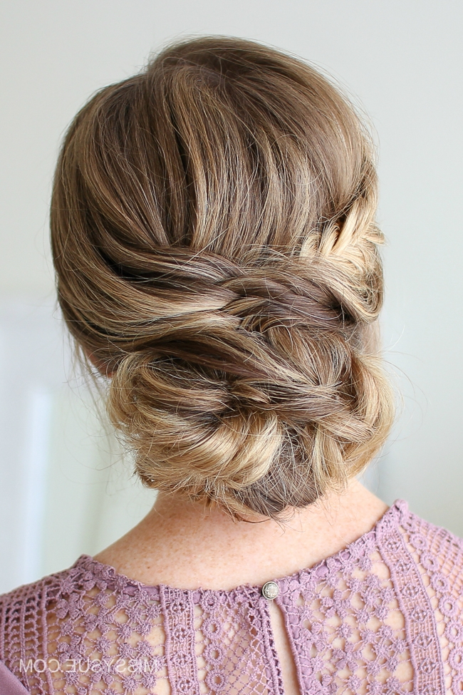 Draped Fishtail Updo (View 13 of 20)