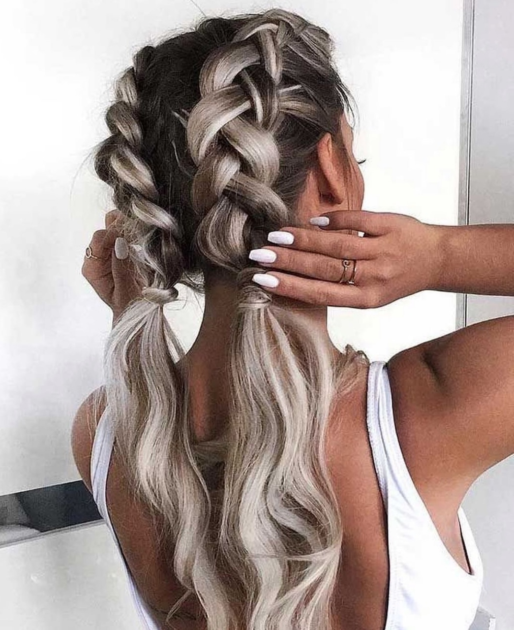 Dutch Braids •° Discovered 𝓖 ♚ On We Heart It Within Most Current Dutch Heart Braid Hairstyles (View 6 of 20)