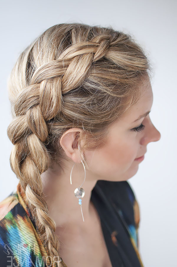 Dutch Side Braid Hairstyle Tutorial – Hair Romance Inside Most Popular Pancaked Side Braid Hairstyles (View 6 of 20)