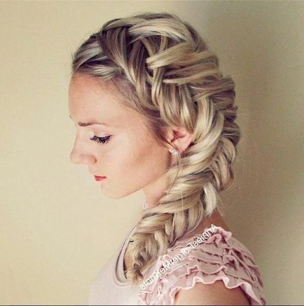 Elsa Hair With 2019 Boho Fishtail Braid Hairstyles (View 4 of 20)