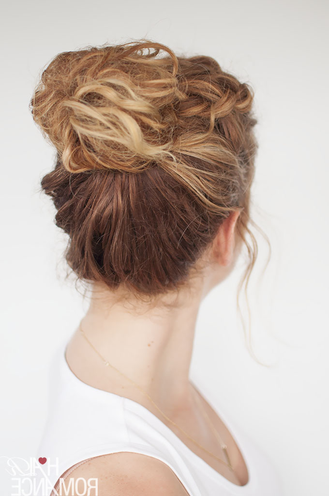 Everyday Curly Hairstyles – Curly Braided Top Knot Regarding Most Current Braided Top Knot Hairstyles (View 15 of 20)