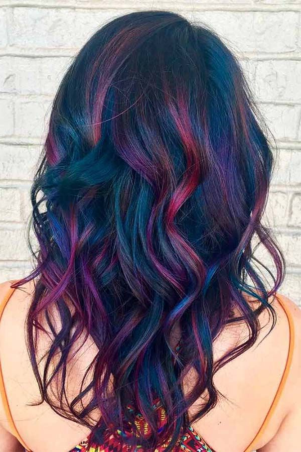 Fabulous Rainbow Hair Color Ideas For Brunettes In 2019 # With Regard To Most Recently Released Pastel Rainbow Colored Curls Hairstyles (View 3 of 20)