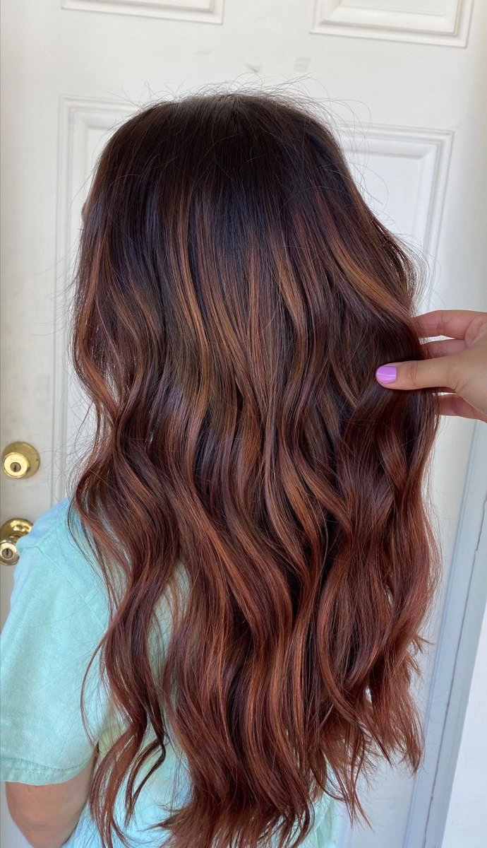 Featured Photo of Copper Curls Balayage Hairstyles