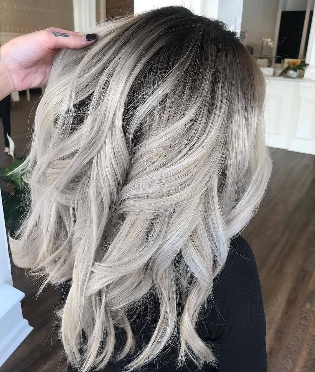 Famous Blonde Balayage Ombre Hairstyles Intended For Balayage Ombre Shadowroot Grey Hair Color From (View 13 of 20)