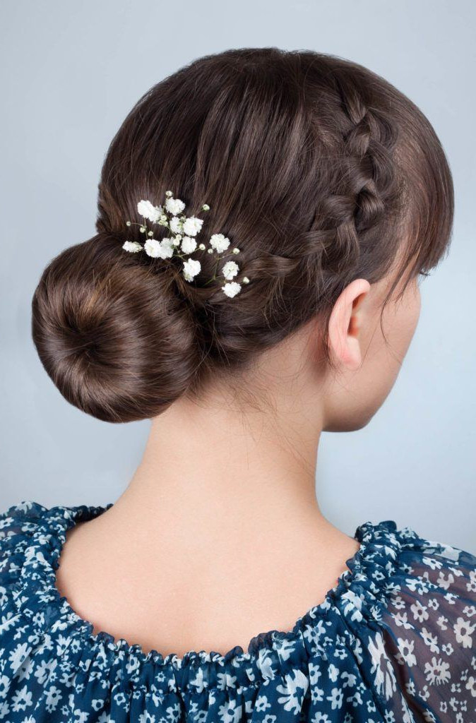 Famous Braid Tied Updo Hairstyles Pertaining To 39 Beautiful Wedding Braids To Try This Season (View 10 of 20)