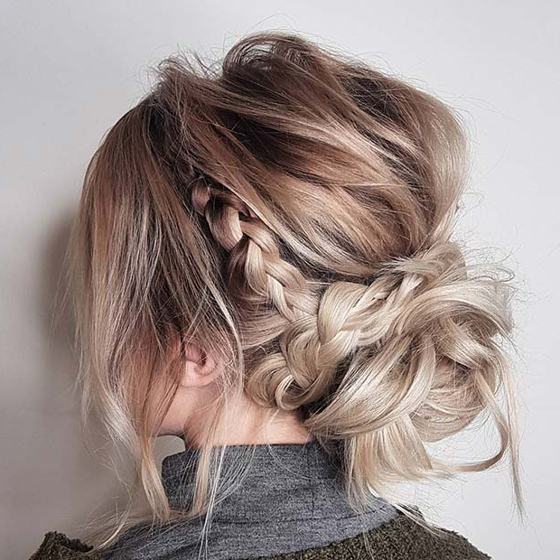 Famous Braided Beautiful Updo Hairstyles Inside 21 Beautiful Braided Updo Ideas For The Holidays – Crazyforus (View 17 of 20)