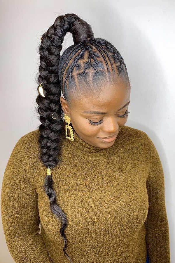 Famous High Ponytail Braided Hairstyles With Regard To 88 Best Black Braided Hairstyles To Copy In (View 8 of 20)