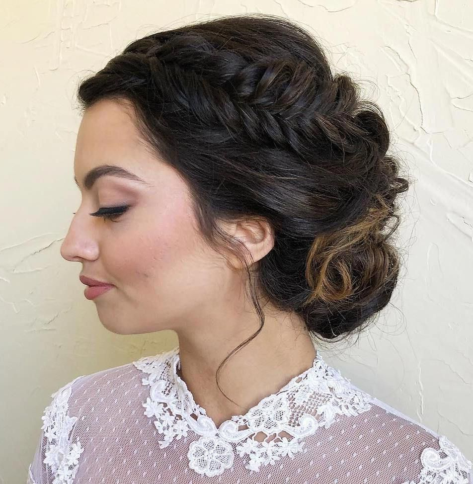 Famous Knotted Braided Updo Hairstyles Within #dress #hairstyles #neckline #types Of Braids Fishtail (View 7 of 20)
