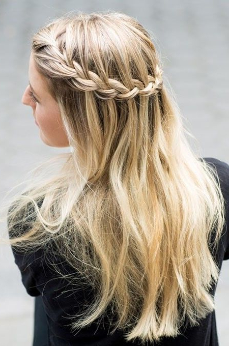 Famous The Waterfall Braid Hairstyles With Regard To Waterfall Braid Hairstyle (View 14 of 20)