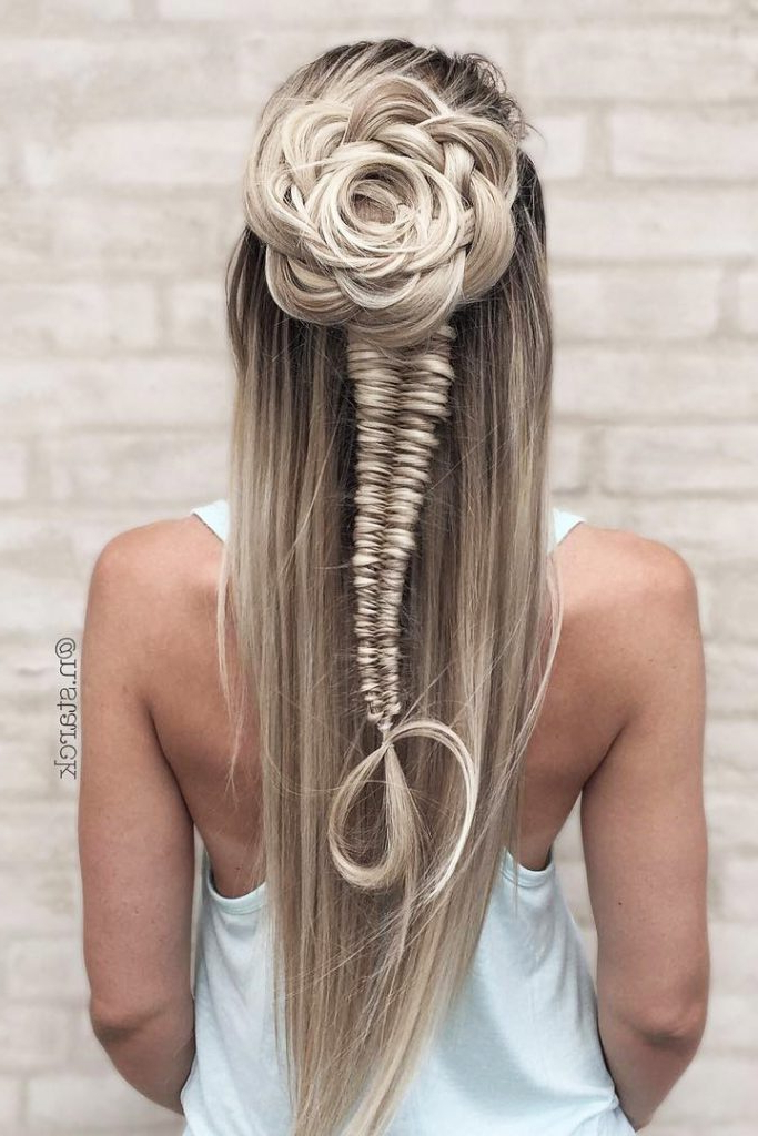 Fashionable Boho Braided Half Do Hairstyles Throughout 30 Overwhelming Boho Wedding Hairstyles – My Stylish Zoo (View 6 of 20)