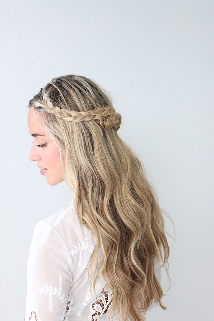 Fashionable Braided Crown Rose Hairstyles Pertaining To An Easy Braided Crown Tutorial (View 2 of 20)