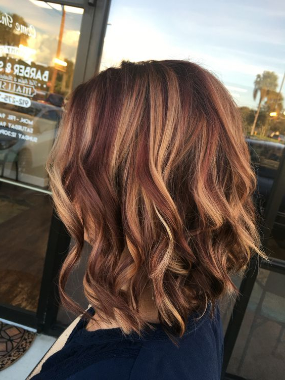 Fashionable Medium Length Curls Hairstyles With Caramel Highlights Throughout 32 Pretty Medium Length Hairstyles 2021 – Hottest Shoulder (View 16 of 20)
