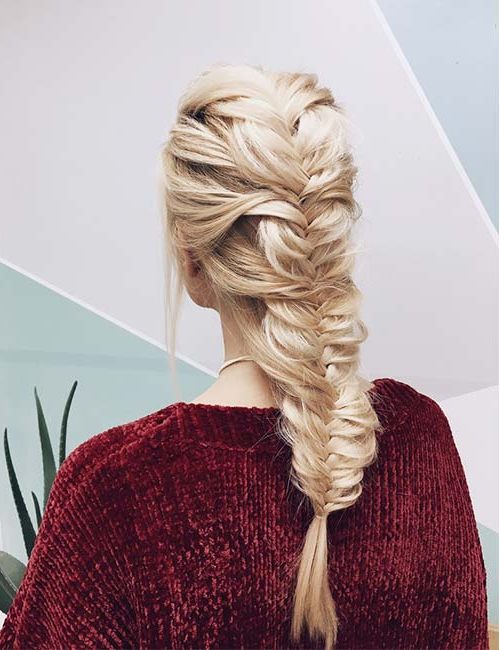 Favorite Boho Fishtail Braid Hairstyles Pertaining To 45 Stunningly Easy Braid Hairstyles (View 6 of 20)