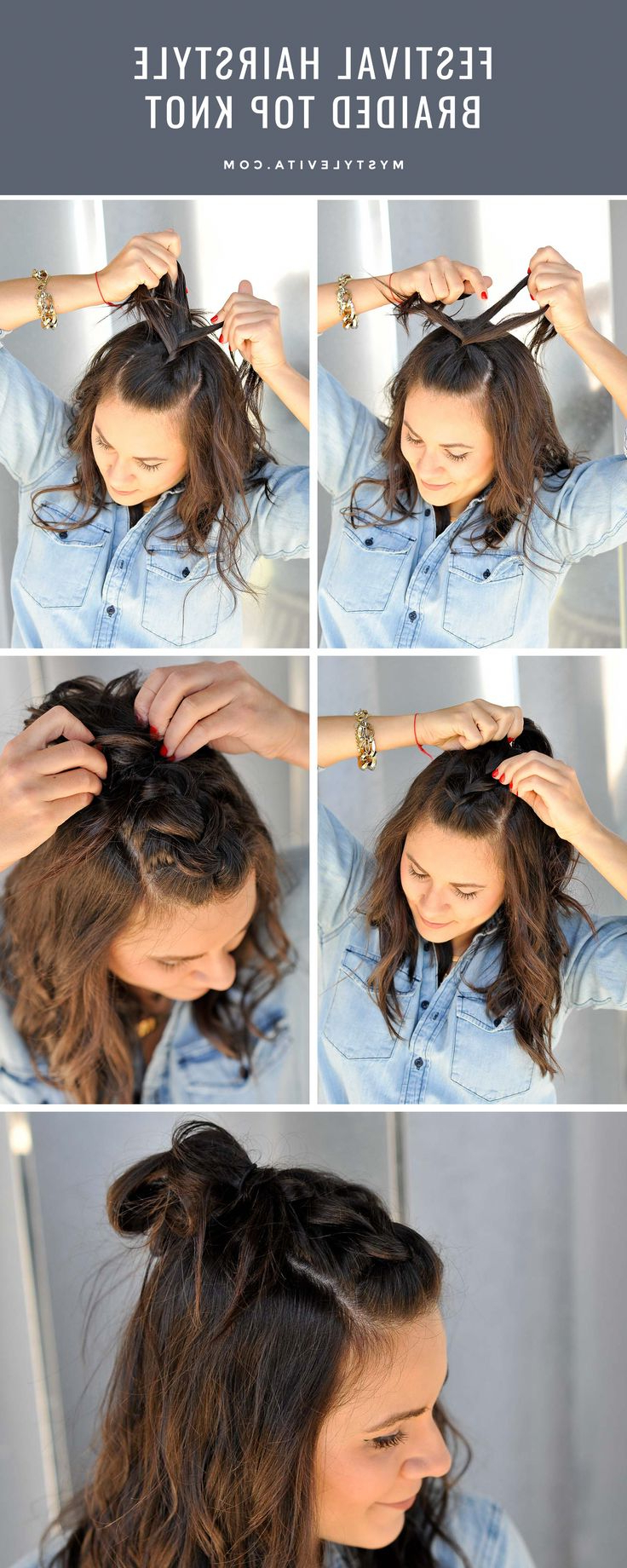 Favorite Braided Top Knot Hairstyles With 40 Flowing Waterfall Braid Styles In (View 6 of 20)