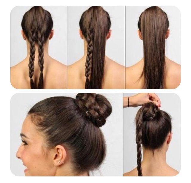 Favorite Cinnamon Bun Braided Hairstyles With Regard To Beautiful Double Braided Bun #diy (View 8 of 20)