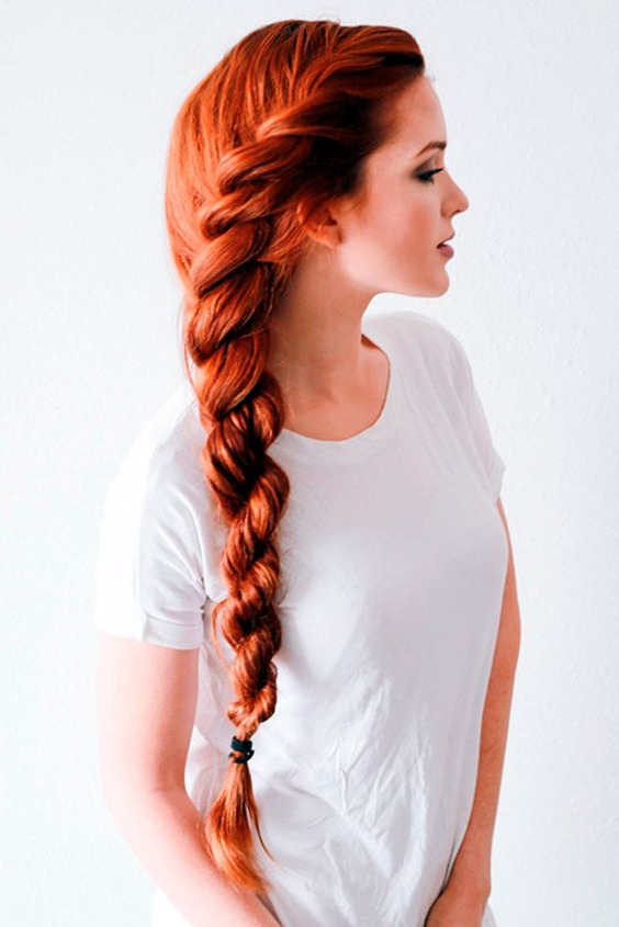 Fαshiση Gαlαxy 98 ☯: Long Rope Braid Hairstyle Idea For Current Rope And Braid Hairstyles (View 5 of 20)