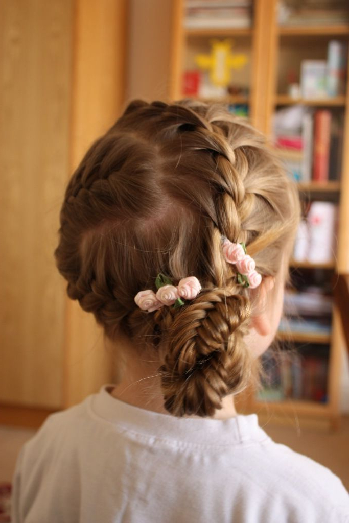 French Braid And Fishtail Braid Updo (View 14 of 20)