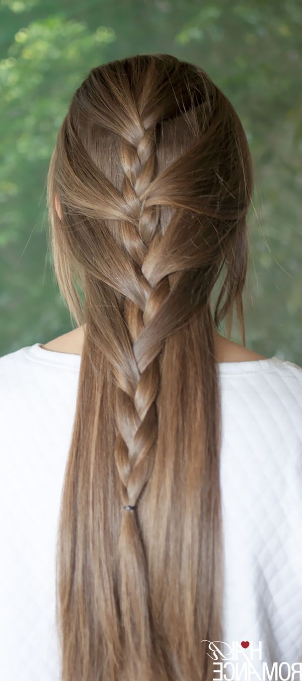 #gingertwin – Mohawk French Braid Updo Tutorial (View 7 of 20)