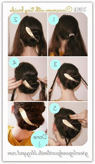 Gold And Glitter – Christmas Hair Do's Braids And Cinnamon Regarding Most Popular Cinnamon Bun Braided Hairstyles (View 13 of 20)