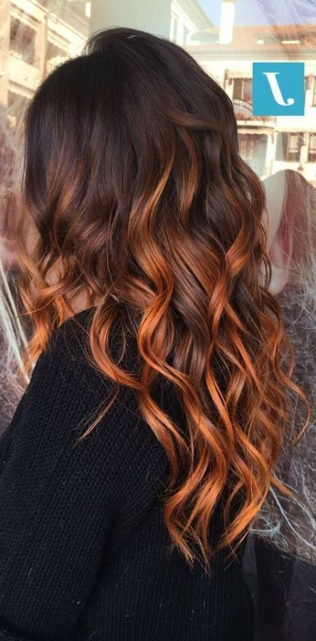 Hair Color Auburn, Balayage Hair Copper (View 3 of 20)