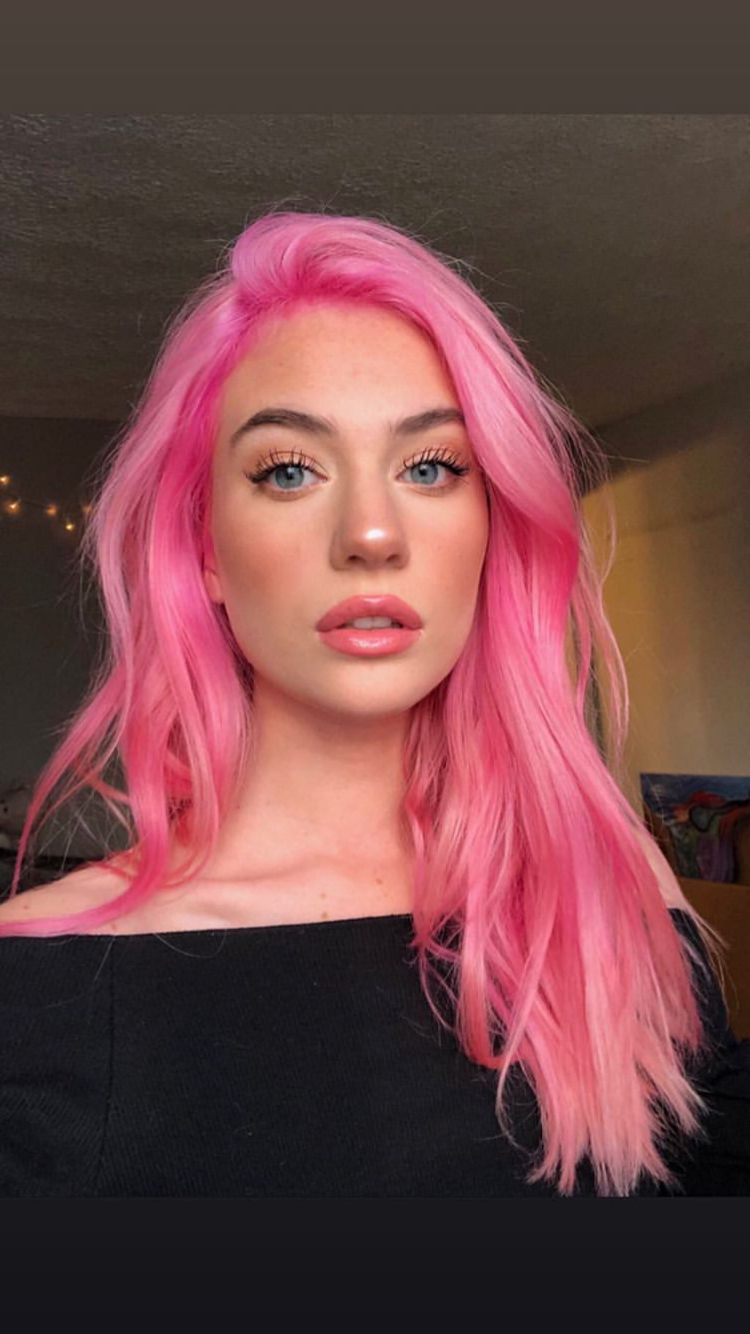 Hair Color Pink, Hair With Popular Hot Pink Highlights On Gray Curls Hairstyles (View 4 of 20)