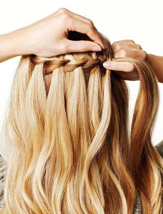Hair Styles Inside Recent The Waterfall Braid Hairstyles (View 4 of 20)