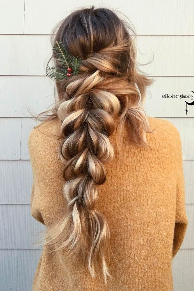 Featured Photo of Loose Double Braids Hairstyles