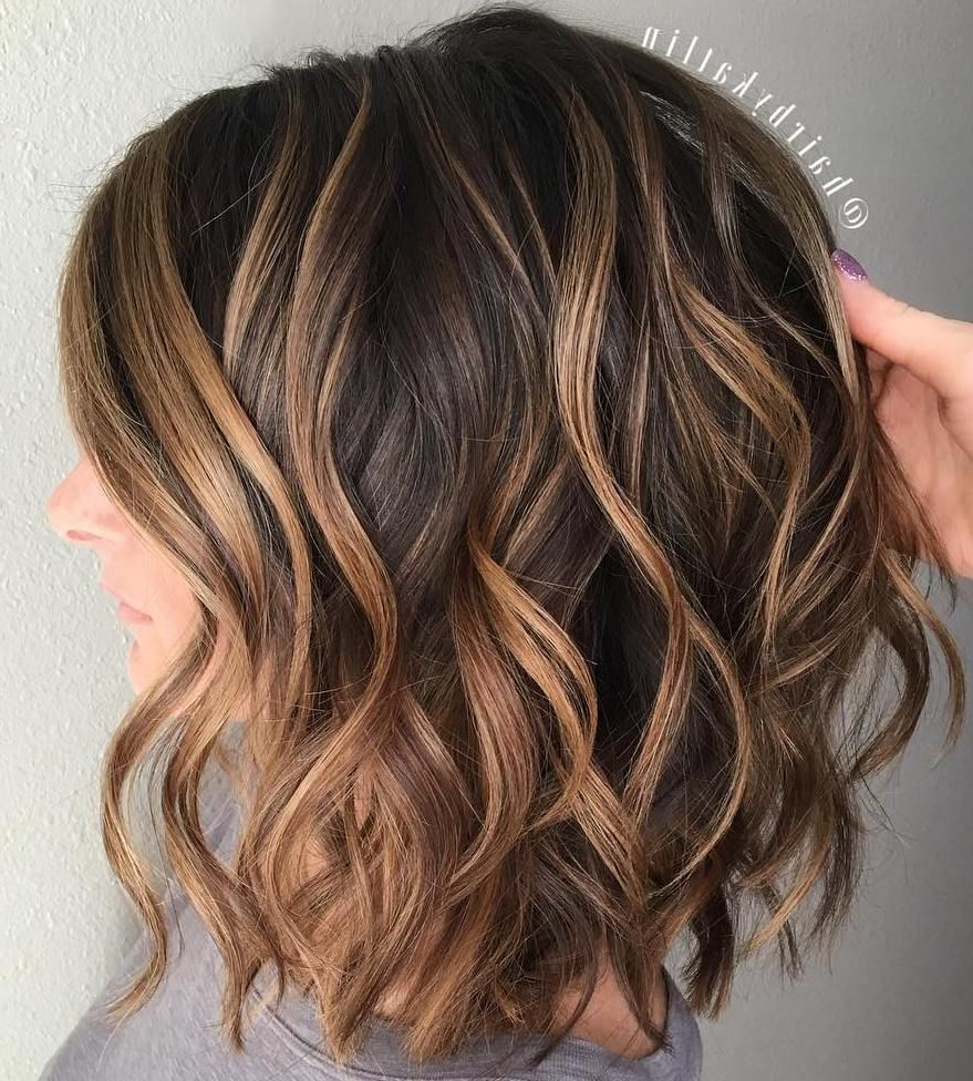 Hair Styles, Wavy Within Most Recent Medium Length Curls Hairstyles With Caramel Highlights (View 6 of 20)