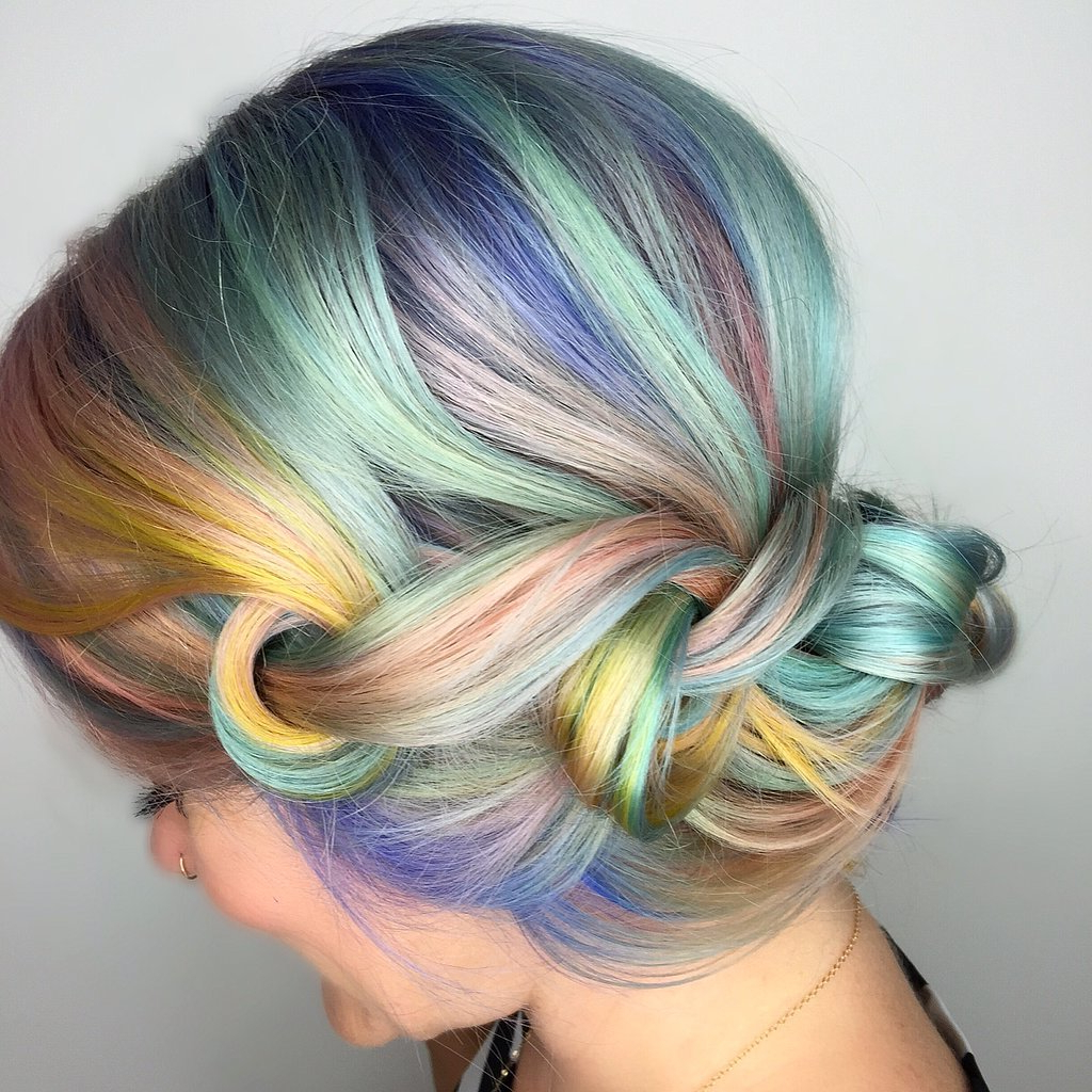Hairstyles 2017 Pertaining To Widely Used Pastel Rainbow Colored Curls Hairstyles (View 15 of 20)