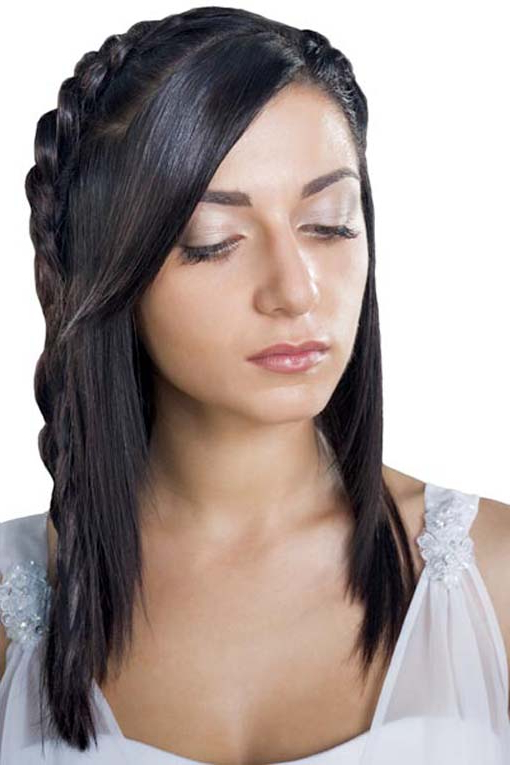 Half Up Half Down Braided Hairstyle – Women Hairstyles In Well Liked Bridal Crown Braid Hairstyles (View 12 of 20)