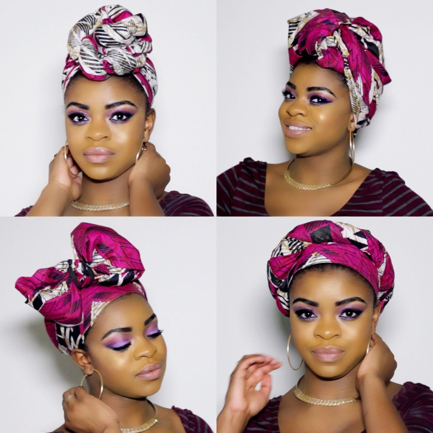 Hey Guys, Check Out Four Quick And Easy Ways To Rock A For Popular Head Wrap Braid Hairstyles (View 14 of 20)