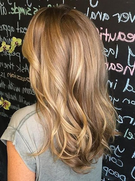 Honey Blonde Hair Color For Popular Honey Kissed Highlights Curls Hairstyles (View 11 of 20)